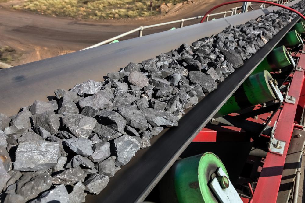 taśma która transportuje węgiel
